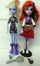 Coffin Bean Abbey with Operetta & Accessories Monster High Doll Bundle.