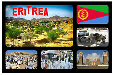 ERITREA, AFRICA - SOUVENIR NOVELTY FRIDGE MAGNET - FLAGS / SIGHTS - GIFTS - NEW
