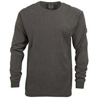 Comfort Colors Men's Adult Long Sleeve Tee, Style 6014,, Pepper, Size Large 8vL2