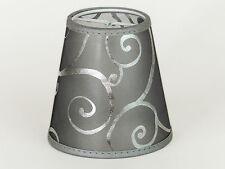 Lampenschirm Aufsteck  Silber Transparent Orientalisch Asiatisch Kronleuchter