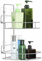 2 Tier Bathroom Organizer Storage Holder Rack Corner Bath Removable Shower Shelf
