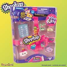 Shopkins Series 7 5-Pack - 5 Collectable Figures 1 Lantern Charm Connecting Cord