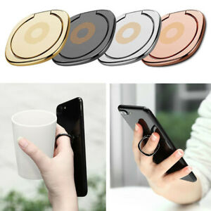 360° Universal Rotating Metal Magnetic Phone Finger Grip Ring 3M 180° Tilt Stand