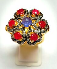 Ruby, Amethyst Silver Ring 925 Silver Diamond Stylish Ring All Size Available