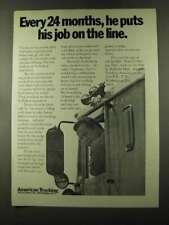 1973 ATA American Trucking Association Ad - Job on Line
