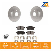 Rear Coated Disc Rotors & Semi-Metallic Brake Pad For Nissan Maxima Infiniti I35