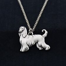 Cartoon Afghan Hound Pendant Necklace Animal Rescue Donation