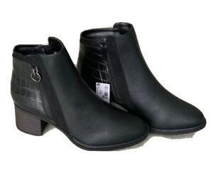 NEXT FOREVER COMFORT Ladies Black BLOCK HEEL CHELSEA BOOTS Size Uk 6.5 New