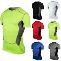 New Men's Gym Sport Running T-Shirt Fitness Muscle Quick Dry Shirt Tee Top