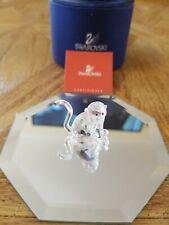 Swarovski Crystal Figurines Monkey Rare Mint With Coa