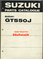 Suzuki GT550 J Ram-Air (1972) Genuine Parts List Catalog Book Manual GT 550 BV18