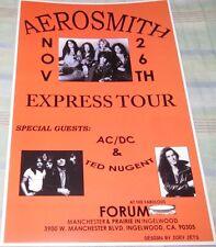 AEROSMITH EXPRESS TOUR 1977 REPLICA POSTER W/PROTECTIVE SLEEVE