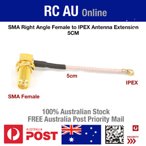 Low Loss Pigtail Antenna Extension - 50mm SMA Right Angle Female to IPEX