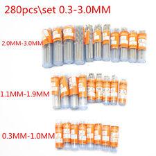 280PCS 0.3-3.0mm Mini Micro HSS Precision Twist Drilling for PCB Crafts Jewelry