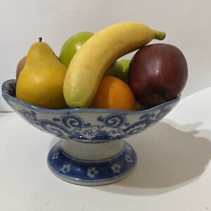 Realistic Faux Fruit 9 Pieces-Bananas Red and Green Apples Oranges and Pear