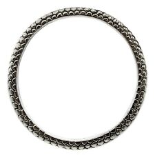 Simon Sebbag Sterling Silver THIN PEBBLE Bangle Bracelet B1347