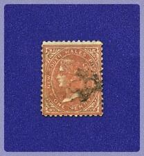 New South Wales 1862-1865 Queen Victoria 1 Penny Stamp #45, used, hinged, no wmk