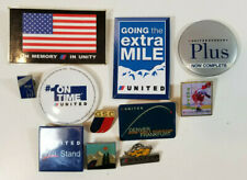 Vintage United Airlines Lapel Pins Pinback Buttons Lot of Eleven Aviation