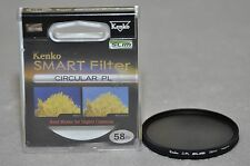 Kenko Slim Smart Cir Polarizing CPL Camera Lens Filter 58mm ( Mint Condition )