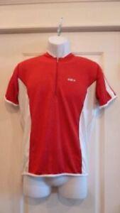 Louis Garneau Men's Light Weight Cycling Jersey Red/White Medium Tri NEW