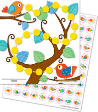 CD 148016 Boho Birds Student Mini Incentive Charts & Stickers Class Management
