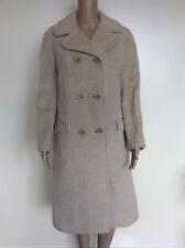 "Vintage Windsmoor 1960s 1970s Long Cream Pure Llama Wool Coat Size L 14 - 16 40"""