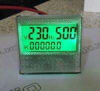 AC 300V Generator 3in1 Digital Voltage Hour Frequency LCD Combo Meter Gauge