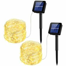 2 Solar Lights Fairy String Light Indoor Outdoor for Patio Lawn 100 Lights 30 ft