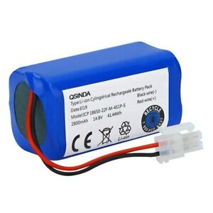 Replacement Battery 14.8V 2800Mah Ilife A4 A4S A6 V7 Vacuum Cleaner New
