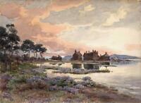 JOSEPH TWIGG (1844-1914) Watercolour Painting MUDEFORD CHRISTCHURCH DORSET 1910