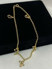 Charm Anklet Cute Solid Gold 18k