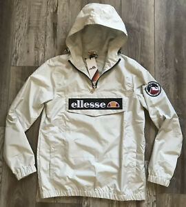 ellesse Mont 2 Heritage Quarter-Zip Waterproof Hooded Jacket Size Small Unisex