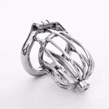 """USA SHIP S095 Birdcage Stainless Steel Male Chastity Cage - Medium 2.00"""" Ring"""