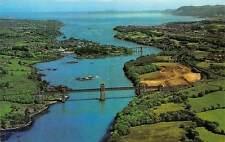 Wales, Menai Straits Bridge, Aerial General View, Panorama