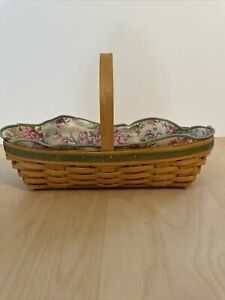 Longaberger Peony Basket With Liner And Protector