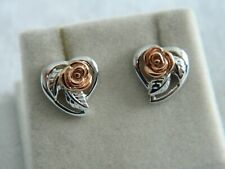 Clogau Silver & 9ct Welsh Gold Royal Roses Stud Earrings