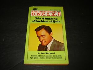 MAN FROM UNCLE 21 THE THINKING MACHINE AFFAIR ACE PBO 51704 1ST JOEL BERNARD....