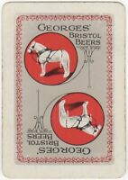 Playing Cards Single Card Old Wide GEORGES BRISTOL Beer Advertising Art HORSE 2