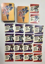 New listing Lot Of 145 Hasbro 1985 G1 Transformers Action Trading Cards & 18 Motto Stickers