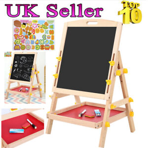 Kid Double Sided Drawing Board Adjustable Standing with Water Erasable Pen