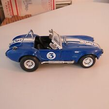 FORD SHELBY COBRA 427 S/C #3 BLUE AND WHITE 1:24 SCALE DIECAST