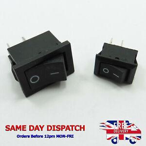 Plastic Botton 3A/6A 250V ON-OFF Rocker Switch SPST Snap 2pin