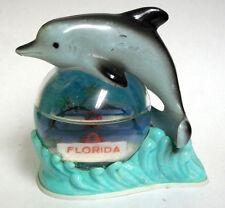 Vintage Florida Dolphin on Seesaw Souvenir Snow Globe/ Water Dome #126
