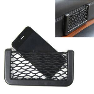 1x Auto Car Interior Body Edge ABS Elastic Net Storage Phone Holder Accessories