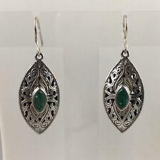 Stunning - Stephen Whittard Emerald Pewter Drop Earrings - 0.69 carats