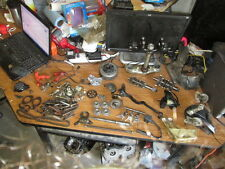 1984 Honda XR200 Brake Hub Pedal Flywheel Oil Line & Pump Axle Etc Parts Lot