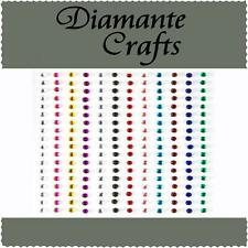 180 x 2mm colori misti Diamante Autoadesivo STRASS CORPO NAIL Vajazzle GEMS
