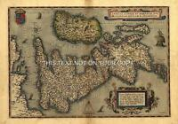 Large A1 78x57 cm Old Ortelius England Scotland Wales Reproduction Antique Map