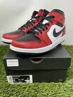 🔥Nike Air Jordan 1 Mid Chicago Toe Size 8 554724-069 Look Free Shipping Hot🔥👀