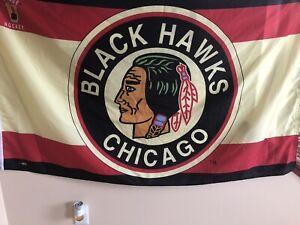 VINTAGE Chicago Blackhawks banner